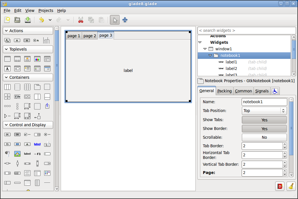 Gtk Label Example